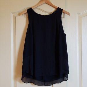 Flowy black sleeveless shirt